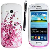 SAMSUNG GALAXY S3 MINI I8190 SILICONE SILIKON CASE SKIN GEL TPU Hülle COVER + STYLUS BY GSDSTYLEYOURMOBILE {TM} (Plum Flowers)