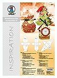 URSUS 55850099-Inspiration Set 6, 3Stencil Stencil per Decorazione SCATOLE Regalo, Multicolore