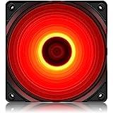 DeepCool RF120 Red Ventola 4 LED Rosso da 120mm Fan Silenziosa per PC Computer Gaming 1300RPM ad Alte Prestazioni 3+4 Pin, 1*