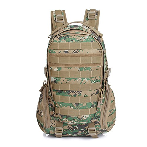 Imagen de hombres conecte bolsas de camping combinación impermeable  táctica militar bolsa de viaje asalto equitación camuflaje 5