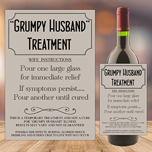 Birthday gifts for husband amazon grumpy husband treatment joke wine bottle label birthday christmas gift idea n77 negle Images