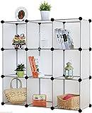 Kronenburg Regalsystem Badregal Steckregal Schrank Regal Kleiderschrank Garderobe - 112 x 112 x 37 cm - Transparent