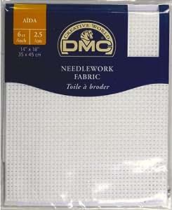 DMC Aida 6ct/pouce, 2,5/cm–Needlework tissu–Blanc–100% coton–35,6x 45,7cm 35cm x 45cm