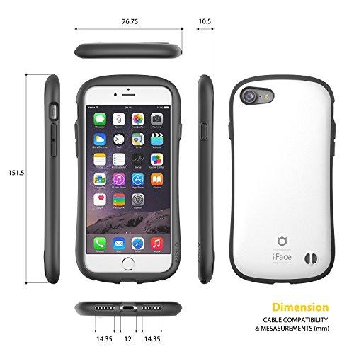 IPhone 7 Case e Car Holder, caso duro iFace [Duo Series] 2in1 robusta protezione con Magnetic Air Vent Car Mount Kickstand per Apple iPhone 7 (2016) - grigio canna di fucile Pearl White