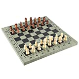 Festnight International Chess Set Portable Wooden Chessboard Chess Game for Travel Party Family Activities