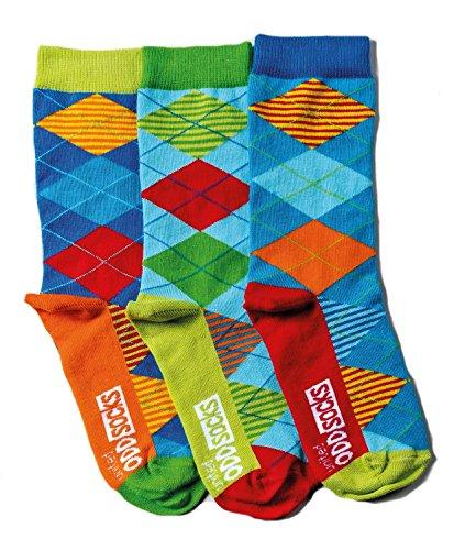 United Oddsocks - 3 Odd Socken für Jungen - Argyle (Argyle Fashion Socken)