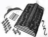 Organisations-Set 57 Teile SCHWARZ / Raumspar Magic Kleiderbügel Smart