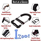 Izoo® Adjustable Forearm Strengthener - Wrist Exerciser, Best Hand Strength Exercise, Perfect Grip Equipment for Upper Arm Workout Training, Finger Handgrip | For Rock Climbing, Tennis, Baseball, Boxing, Basketball, Bowling, Golf, Shooting, Cricket, Body Building, Athletes, Musicians, Pianists and Violinists | Recovery from Muscle Pain, Arthritis, Tendinitis, Carpal Tunnel | For Men, Women, Kids | Portable, Comfortable, Lightweight, Quick and Easy to use | Gym, Office, Home usage | Great Gift