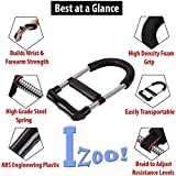 #5: Izoo Adjustable Forearm Strengthener - Wrist Exerciser, Best Hand Strength Exercise, Perfect Grip Equipment for Upper Arm Workout Training, Finger Handgrip | For Rock Climbing, Tennis, Baseball, Boxing, Basketball, Bowling, Golf, Shooting, Cricket, Body Building, Athletes, Musicians, Pianists and Violinists | Recovery from Muscle Pain, Arthritis, Tendinitis, Carpal Tunnel | For Men, Women, Kids | Portable, Comfortable, Lightweight, Quick and Easy to use | Gym, Office, Home usage | Great Gift