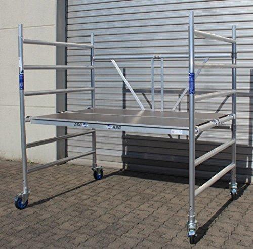 ASC Rollgerüst XL-Plattform 130 x 190 cm, Arbeitshöhe bis 3,0 m, TÜV/GS, erweiterbar