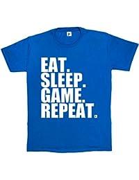 Fancy A Snuggle Eat. Sleep. Game. Repeat. Gamer Repeat Nerd Geek Mens T-Shirt
