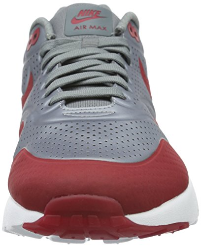 Nike Air Max 1 Ultra Moire, Scarpe sportive, Uomo Grigio (Metallic Cool Grey / Red)