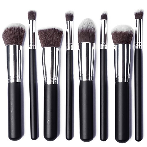 JVJ 8pcs Trucco Cosmetici Pennelli Makeup Foundation Brush Blush Eyeshadow