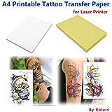 10Feuilles Laser DIY A4papier de transfert Tatouage Temporaire imprimable personnalisée