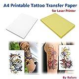 10Blatt Laser DIY A4Papier für die Übertragung von temporären Tattoos.
