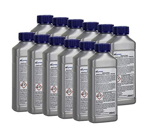 12x Détartrant universel liquide AllSpares (250ml) pour Saeco/Philips CA6700 devant machine a cafe