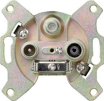 Preisvergleich Produktbild Gira 093700 Antennensteckd. 3-f. 1.5-2dB Hirschmann EDA 3902 F
