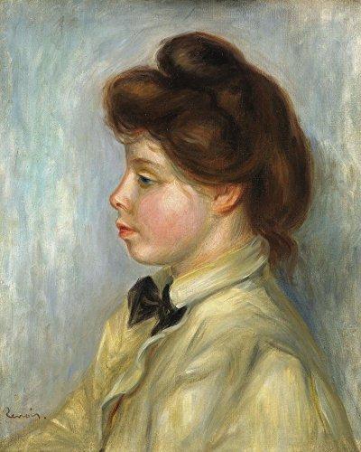 Das Museum Outlet-Junge Frau mit Schwarz Krawatte, 1897-98-Leinwand Print Online kaufen (101,6x 127cm)