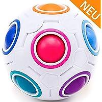 CUBIXS® Regenbogenball Original – Logik Spielzeug für Kinder und Erwachsene – Puzzle Spiel 3D – Ball – Regenbogen