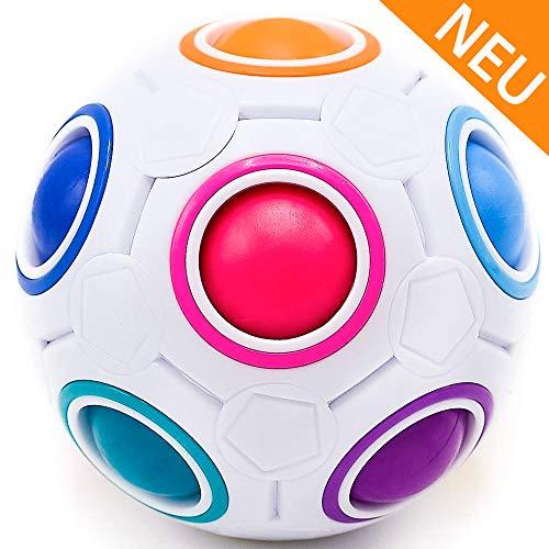 CUBIXS® - Regenbogenball - Geschicklichkeitsspiel für Kinder und Erwachsene - tolles Mitgebsel für Kindergeburtstag Gastgeschenk Spielzeug - auch als Stressball oder Knobelspiel für Erwachsene