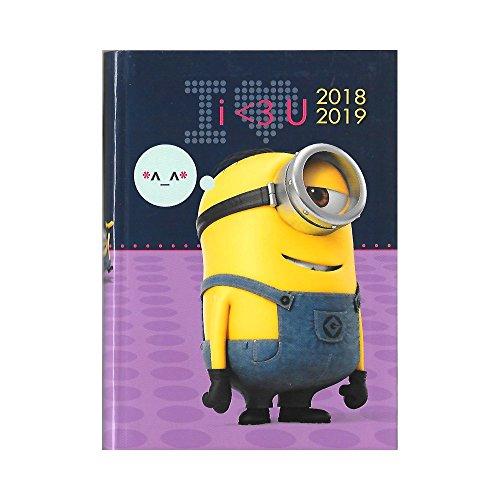 Minion–Agenda Año Escolar 2018–2019–intra-vaginal–17x 12cm–I
