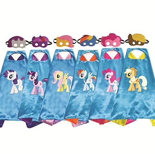 HYXGG Umhang- und Maskenset für Kinder Pony Series Cape Mask Masquerade - Apple Jack (Apple Für Erwachsene Kostüm)