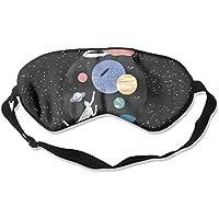 Comfortable Sleep Eyes Masks Space Plante Pattern Sleeping Mask For Travelling, Night Noon Nap, Mediation Or Yoga preisvergleich bei billige-tabletten.eu