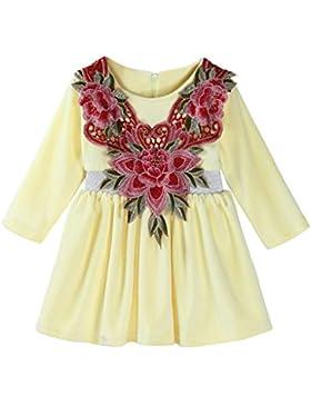 Babyschuhe ❀❀❀JYJM ❀❀❀Kleinkind Kinder Baby Mädchen Floral warme weiche Prinzessin Kleid Outfits Kleidung
