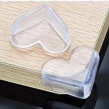 Fyore Eckenschutz Silikon Transparent Selbstklebend für Tisch und Möbel für Baby und Kinder 12 Stück (5*4*2cm Herz geformt)