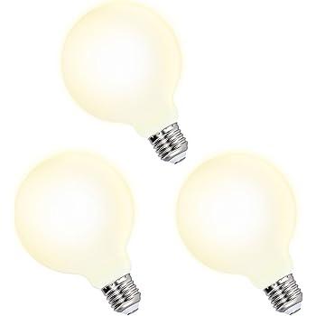 Lamparas Bombillas Globos Grande de LED de Edison E27 G95 6W Luz Calida 3000K Iluminación Omnidireccional