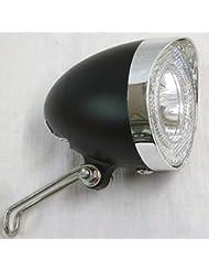 UNION LED Scheinwerfer in klassische Form schwarz 40 Lux für Nabendynamo