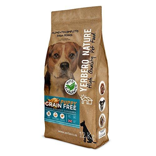 Yerbero NATURE GRAIN FREE PUPPY comida para perros cachorros SIN cereales 12 kg (PUPPY)