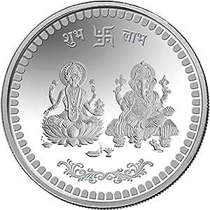 Mmtc-Pamp 10 Gm. Ganesh Lakshmi Ji Silver(999) Coin With Capsule Packing