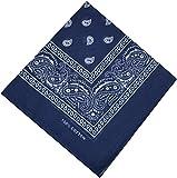 Bandana Halstuch Biker Nikki Tuch Schal Paisley Kopftuch 100% Baumwolle 25 Farben (Marineblau)
