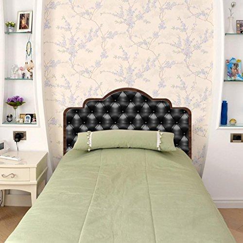 LNPP 3D DIY Wandaufkleber f¨¹r Schlafzimmer Nachahmung Bett Kopfteil Wand Dekor (schwarz) , single bed twin size56*99 (Twin-schwarz-holz-bett)