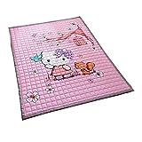 household products Kinderspiel-Krabbeldecke, Dicker Cartoon-Baumwollteppich, 1,5 x 2 Meter, geeignet für Schlafzimmer-Wohnzimmer.