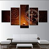 hlonl Leinwand Gemälde Wandkunst Hd Druckt 5 Stücke Shiva Nataraja Statue Poster Indien Gott Vintage Bilder Wohnzimmer Dekor Kein Rahmen