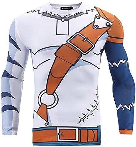 Pizoff Herren T-Shirt Anime-basierte Sport-Shirt Kältegefühl Deodorant Spaß stereoskopische 3D-Mode