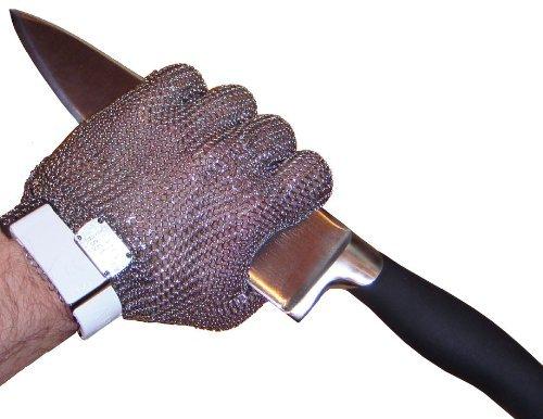 Kettenhandschuh, Austernhandschuh, Schnittschutzhandschuh, Größe L