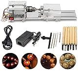 SEAAN Mini macchina per lucidare perline per tornio, lavorazione CNC per legno da tavolo, tornio per utensili fai-da-te