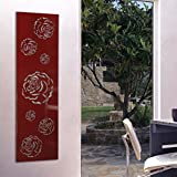 Wandgarderobe / Garderobe, Design Rose, 140x40x2 cm, rot (Marke: Szagato, Made in Germany) (Kleiderständer Garderobenständer Wandpaneel Wanddeko Kleiderhaken Flurgarderobe)