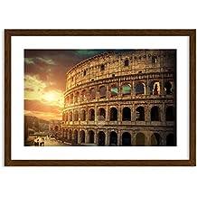 Imagen en un marco de madera de color wengué - Imagen en un marco - Cuadro sobre lienzo - Impresión en lienzo - Ancho: 70cm, Altura: 50cm - Foto número 2966 - listo para colgar - en un marco - F1MAA70x50-2966