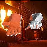 QETY Isolierte Handschuhe, 35 cm 500 Grad Hochtemperatur Beständig Feuerfeste Fünf Finger Wärme Strahlungs Handschuhe für QETY Isolierte Handschuhe, 35 cm 500 Grad Hochtemperatur Beständig Feuerfeste Fünf Finger Wärme Strahlungs Handschuhe
