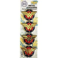 WONDER WOMAN SHIELD 4 Mini, Officially Licensed Original Artwork - Heavy Duty Metal Sticker DECAL ETICHETTA