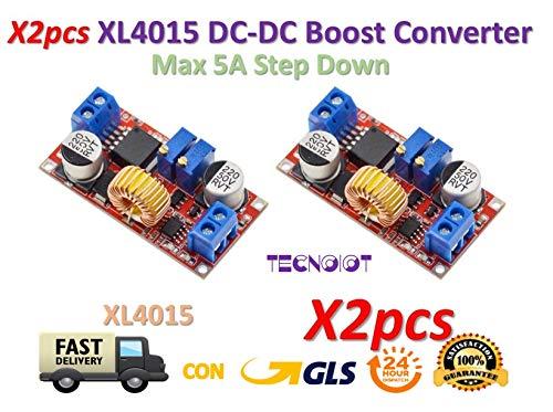 Linear Current-booster (2pcs 5A Max XL4015 DC to DC CC CV Step-Down Lithium Battery Charger Converter | 2 Stück 5 A Max XL4015 DC / DC-CC-CV-Abwärtswandler für Lithium-Batterie-Ladegeräte)