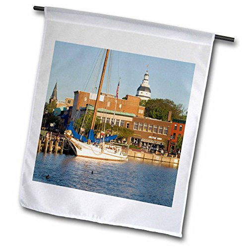 3dRose FL_90800_1 Annapolis City Docks/Severn River/Maryland US21 JME0005 John and Lisa Merrill Gartenflagge, 30,5 x 45,7 cm