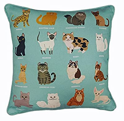 ROYAL CAT Breeds Original Design, UK Handmade Cushion Cover, Pillow Case for Home Decor, Playful Cats Cushion Cover, Adorable Sofa Cushion, Bedroom Cushion, Children's Nursery Pillow, Cat Lover Pillow, Stylish Easter Gift