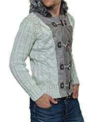 Carisma Pull homme Gilet en tricot Veste à capuche - en 3 couleurs