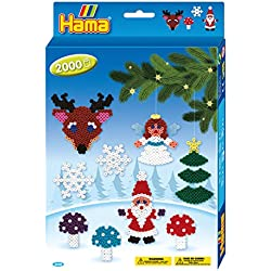 Hama - 3430 - Loisirs Créatifs - Boîte Perles à Repasser - Taille Midi -Noël