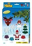 Hama 3430 - Geschenkpackung Weihnachten, ca. 2000 Bügelperlen, 1 Stiftplatte und Zubehör